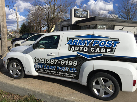 Army Post Auto Care | 515-287-9199 | 1326 Army Post Rd, Des Moines IA 50315
